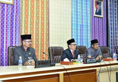Sidang Paripurna DPRD Bengkalis dipimpin Ketua DPRD Bengkalis H Khairul Umam.