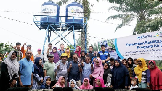 Peresmian bantuan sarana Air Bersih LAZNas Chevron South Area