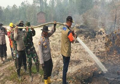 Kebakaran hutan dan lahan yang terjadi di Riau.