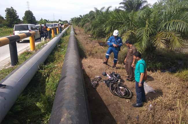 Lokasi kejadian pencurian minyak milik PT CPI.