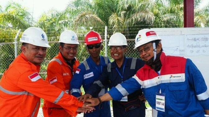 PGN dan Pertagas kerjasama alirakan gas ke jaringan pipa transmisi Duri-Dumai. Foto : Tribun Pekanbaru