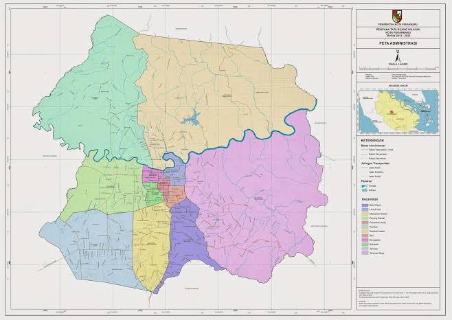 Peta Kota Pekanbaru.