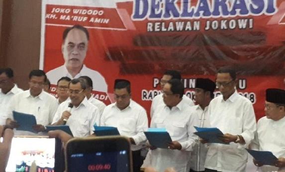 Acara deklarasi dukungan terhadap Jokowi-Ma