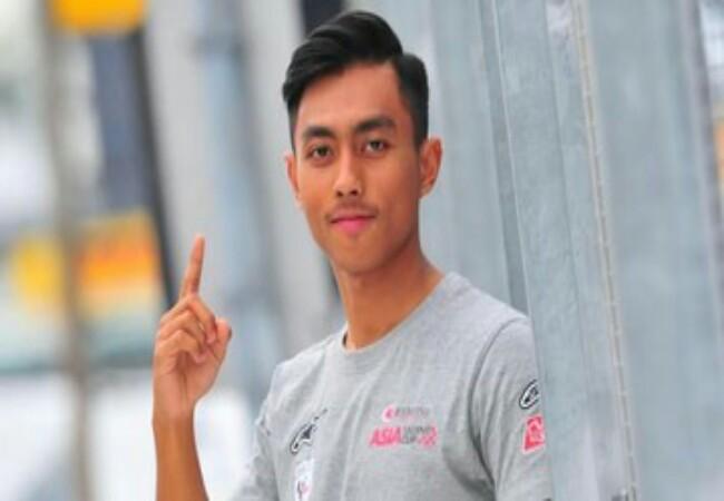 Afridza Munandar mengalami kecelakaan di ajang balapan ATC 2019