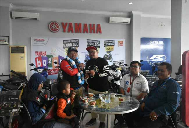 Lilik Gunawan mengunjungi Main Dealer PT Yamaha Alfa Scorpii.