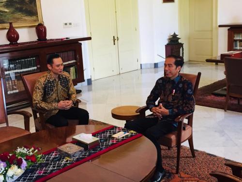 Pertemuan Jokowi dengan AHY beberapa waktu lalu.