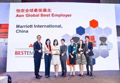 Marriott International terima penghargaan dari Aon.