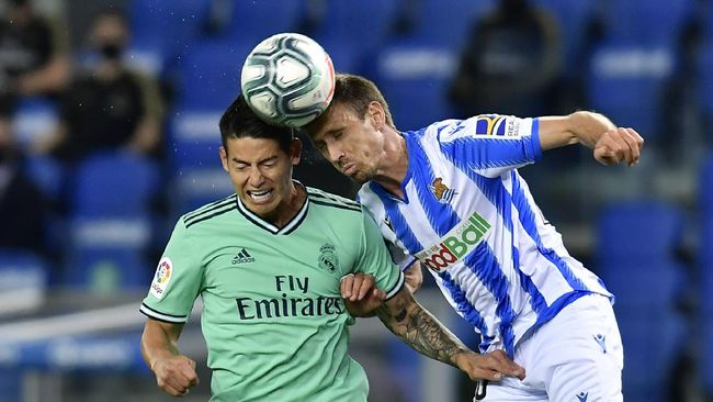 Real Madrid butuh usaha ekstra untuk mengalahkan Real Sociedad. (AP/Alvaro Barrientos)