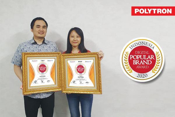 Polytron meraih penghargaan Indonesia Digital Popular Brand Award 2020 (IDPBA) untuk dua kategori sekaligus.