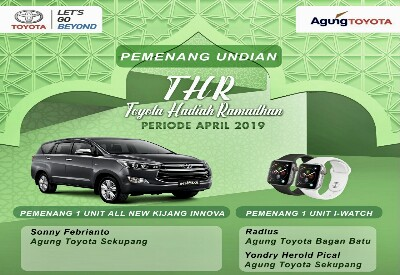 Promo Toyota Hadiah Ramadhan (THR) 2019