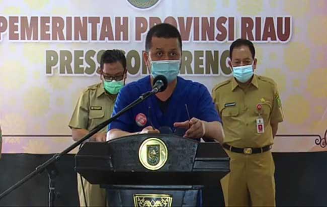 Juru Bicara (Jubir) Satgas Covid-19 Provinsi Riau, dr. Indra Yovi.