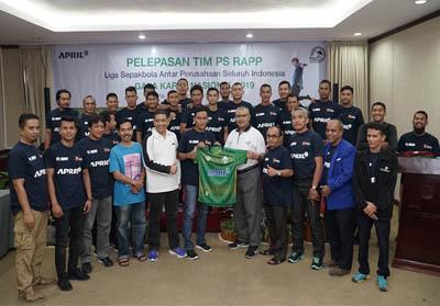 Tim sepak bola PT RAPP atau yg dikenal PS RAPP untuk berlaga di Kejuaraan Nasional Piala Galakarya 2019 yang akan dilaksanakan di Jakarta. Acara pelepasan berlangsung di Hotel Unigraha, Pangkalan Kerinci, Pelalawan, Senin (23/9/2019).