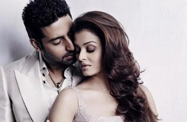 Abhishek Bachchan dan istrinya Aishwarya Rai.