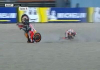 Lorenzo alami kecelakaan saat sesi latihan MotoGP Belanda.