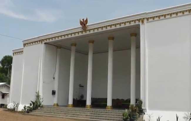 Kantor Desa di Kabupaten Lampung Utara, Lampung yang viral.