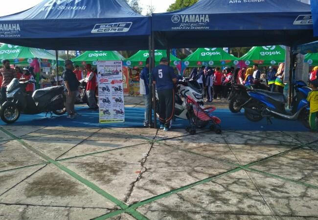Yamaha ikut memeriahkan Deklarasi Relawan Riau Anti Narkoba.