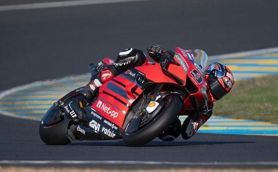Pebalap Ducati, Danilo Petrucci, jadi juara MotoGP Prancis.