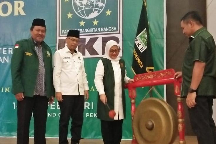 Pembukaan Sekolah Legislator bagi kader PKB di Riau dan Kepulauan Riau (Kepri), Jumat (14/2/2020) sore di Hotel Grand Central.