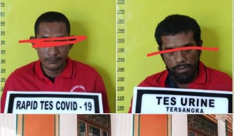 Dua tersangka bersama barang bukti sudah diamankan pihak Resnarkoba Polres Rohul, dan ikut menganankan 1,2 kg ganja serta barang bukti lainnya.