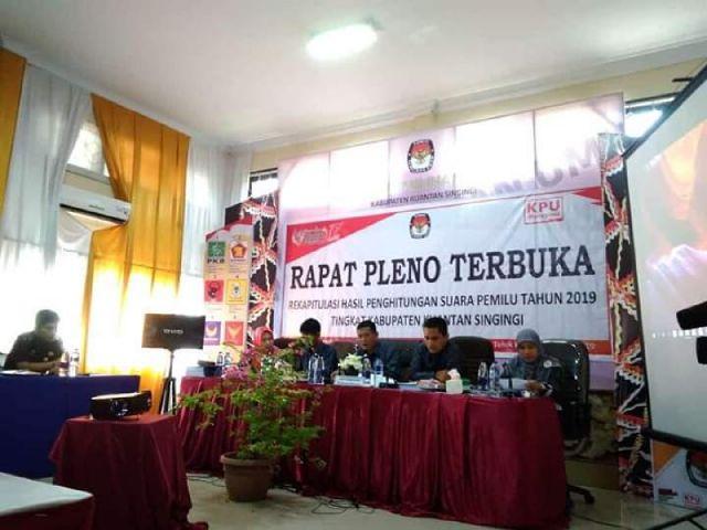 Rapat Pleno Terbuka KPU Kuansing