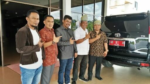 Pengurus Korda PPIR Kabupaten Rohul, bersilaturrahmi dengan Ketua dan Sekretaris DPC Gerakan Indonesia Raya (Gerindra) Rohul.