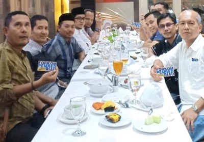 Forum Pemimpin Redaksi Riau gelar buka puasa bersama sekaligus eratkan silaturrahim, Rabu (22/5/2019).
