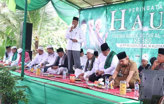 Haul Syekh Abdul Qadir Al-Jaelani ke-880 digelar di Rumah Suluk Riyadus Shalik Kampung Gabung Makmur Kecamatan Kerinci Kanan, Siak, Senin (9/12/2019).