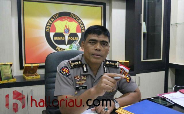 Kabid Humas Polda Riau, Kombes Pol Sunarto.