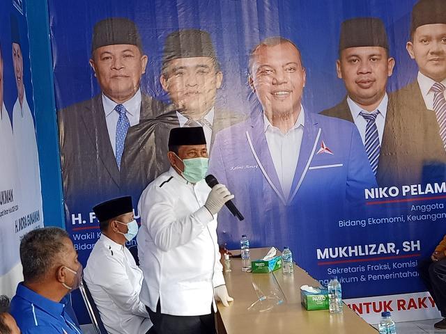 Pasangan calon Bupati dan Wakil Bupati Rohul, H.Sukiman- Indra Gunawan, hadiri Konsolidasi Partai Demokrat Rohul, menghadapi Pilkada Rohul 2020 di Kantor DPC Partai Demokrat dipimpin Ketua DPC Demokrat Kelmi Amri.