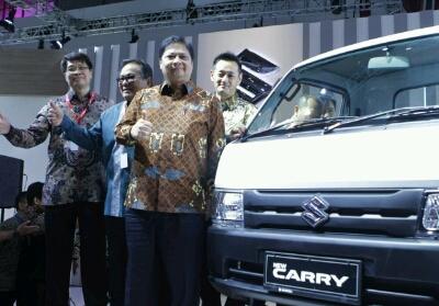 PT SIS secara resmi menggelar world premiere Suzuki New Carry Pick Up pada acara pembukaan IndonesiaInternational Motor Show 2019di JIExpo Kemayoran.