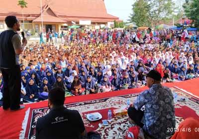 Peserta Dongeng Akbar Dompet Dhuafa Riau-Indragiri Hulu.