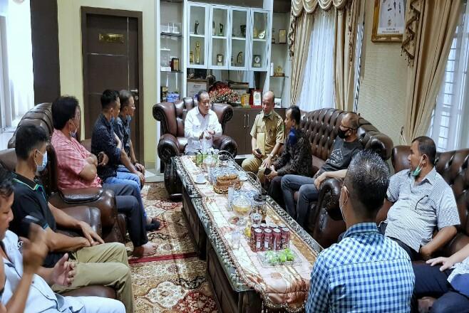 Bulog Wilayah Riau-Kepri melakukan kunjunga ke Bupati Meranti.