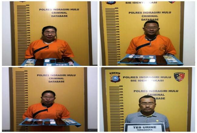 Empat orang tersangka diringkus Polres Inhu.