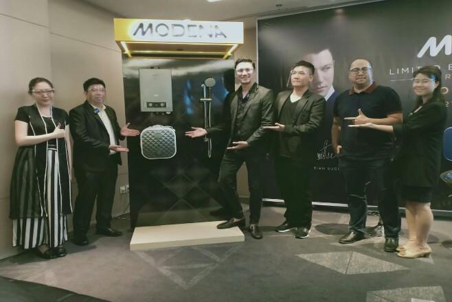 MODENA menggandeng aktor papan atas Christian Sugiono dan menyapa Pekanbaru dalam rangka peluncuran produk water heater dengan desain mewah terinspirasi dari diamond cut.
