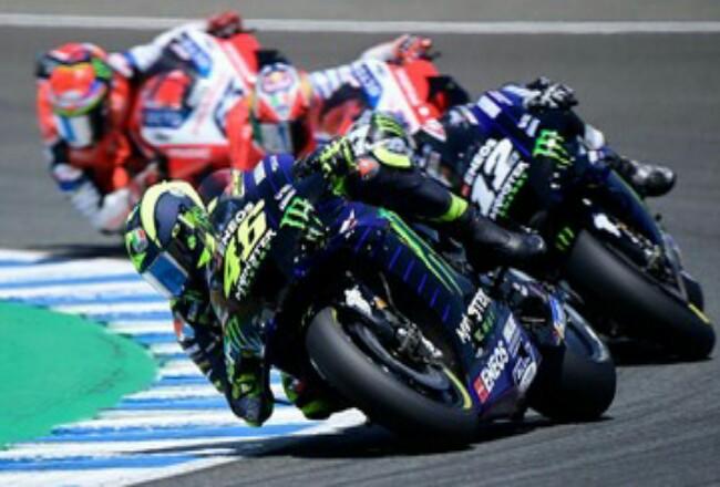 Valentino Rossi finis ketiga di MotoGP Andalusia 2020. Foto: CNNIndonesia