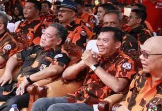 Walikota Pekanbaru, Firdaus MT saat menghadiri acara yang dihelat Pemuda Pancasila.