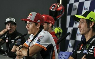 Valentino Rossi sebut semua orang senang MotoGP Ceko tanpa Marc Marquez. Foto: CNNIndonesia
