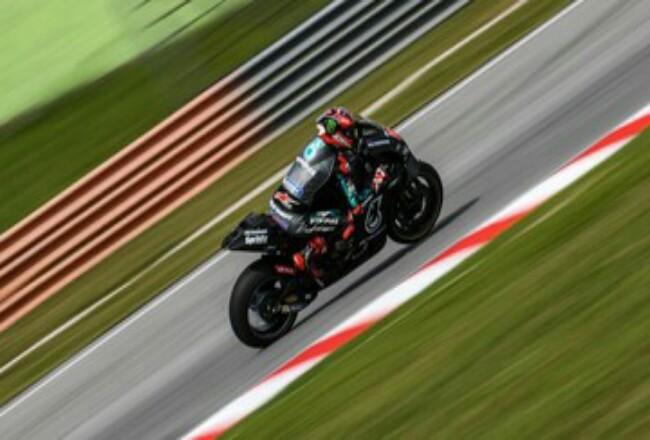 Fabio Quartararo jadi pebalap tercepat di sesi tes MotoGP di Sepang. Foto: CNNIndonesia