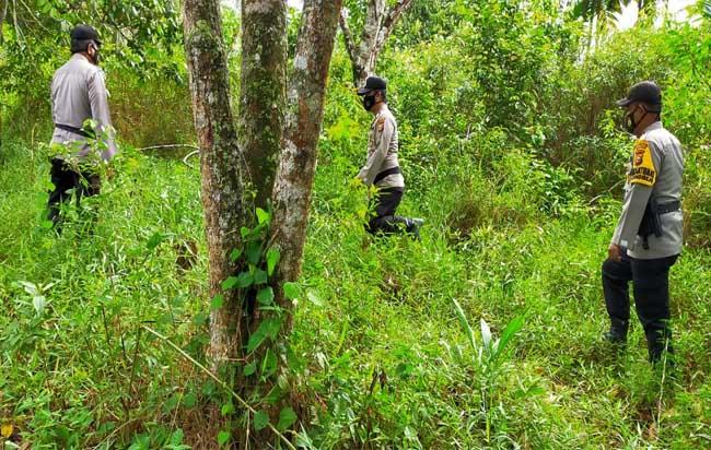 Patroli di sejumlah titik rawan terhadap Kebakaran Lahan dan Hutan.