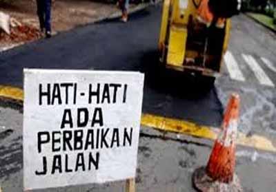 Ilustrasi : perbaikan jalan.
