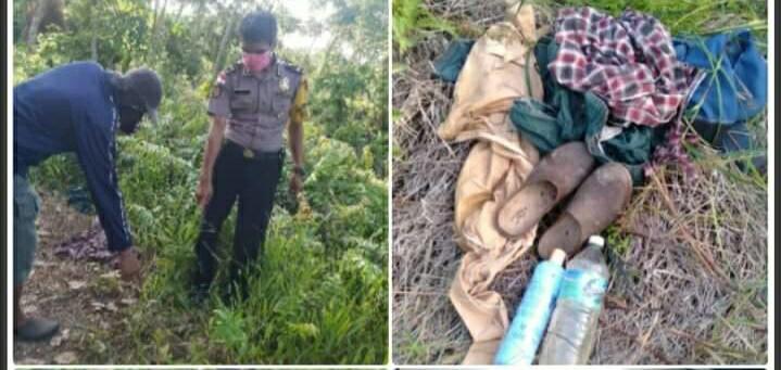 Penemuan mayat laki-laki dalam parit. Foto: Riau Terkini