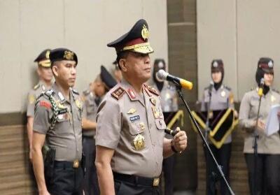 Kapolda Riau Irjen Pol Widodo pimpin serah terima jabatan (Sertijab) di ballroom Hotel Pangeran Pekanbaru, Selasa (24/9/2019).Foto: Tribun