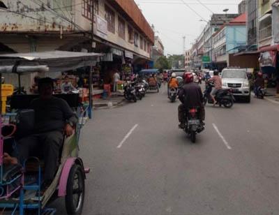 Jalan Sudirman Bengkalis, salah satu jalan yang akan mengalami pemadaman bergilir.