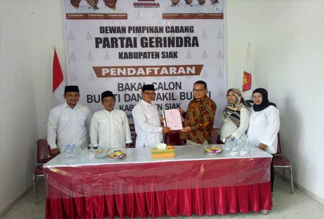 Penjaringan Pilkada di Partai Gerindra Siak.