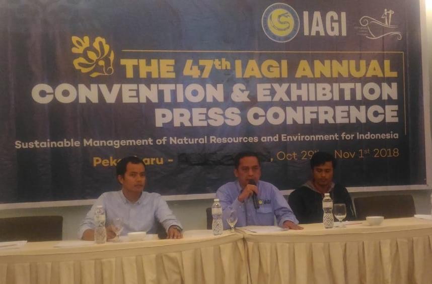 Konferensi pers jelang IAGI ke-47 di Riau.