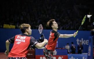Ganda putra Indonesia Marcus/Kevin bertemu Ahsan/Hendra di Final Indonesia Open 2019.