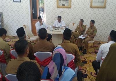 Rapat persiapan pemberangkatan Calon Jemaah Haji (CJH), Senin (24/6/2019).