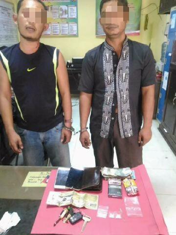 Dua tersangka pelaku sabu yabg diringkus Polres Kuansing