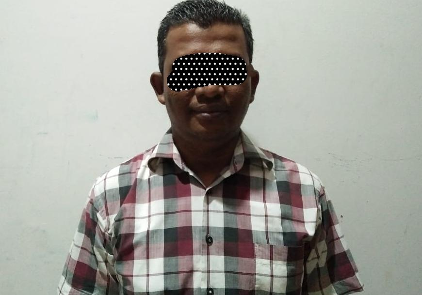 RM (37),  oknum Lurah Sidomulyo Barat Kecamatan Tampan, Pekanbaru,