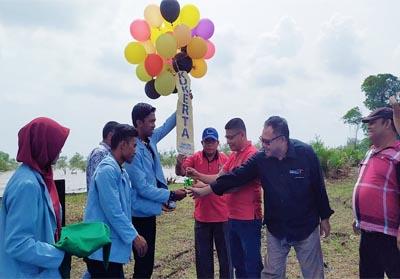 Pantai Terubuk Desa Bantan Sari diresmikan Anggota DPRD Bengkalis